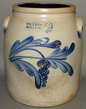 Evan R. Jones cobalt decorated jar