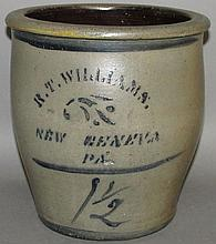 R.T. Willams cobalt decorated crock