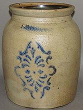 F.H. Cowden cobalt decorated jar
