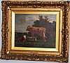 Van Marcke cows in landscape painting