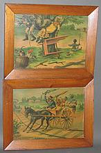 2 Burns chromolithographs
