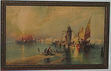 Moran Venice harbor print