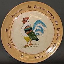 Russell Henry rooster plate