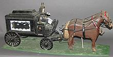 Luke Gottshall horse & hearse carving