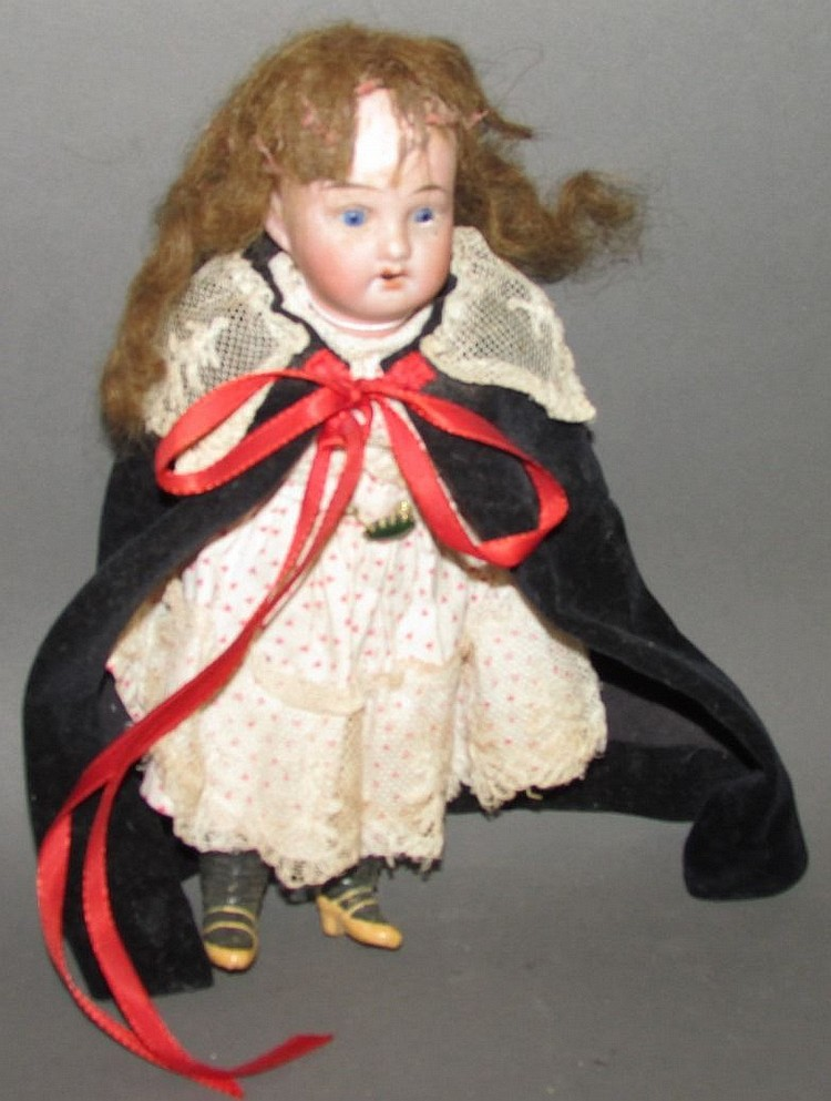 Small German doll bisque head doll
