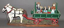 Luke Gottshall horse & wagon carving