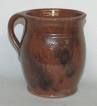 Lebanon Valley redware honey pot