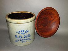 Bird's eye maple bowl & ES&B; crock