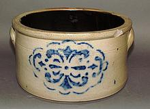 Cobalt decorated Cowden butter crock