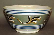 Pearlware mocha bowl
