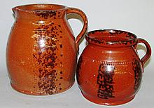 2 pieces of PA redware