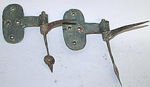 Early pair of hand wrought side hinges