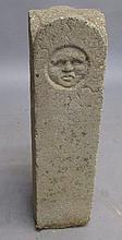 Carved stone marker