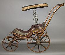 Doll stroller with surrey top