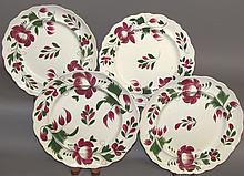 4 early Adams Rose plates