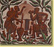 Kibwanga Mwenze (1925-) École congolaise Huile sur