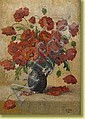 M. Weiss. Huile sur toile: Vase fleuri de