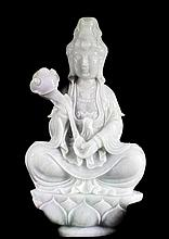 Large Jadeite Guanyin Statue