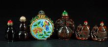 Lot of 6 Old Snuff Bottle