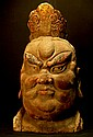Chinese Old Carved Wooden Head