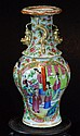 Old Cantonese Famille Rose Vase