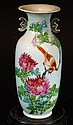 Famille Rose Bird & Flower Vase
