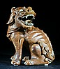 Ming  Brown Glazed Pottery Mithical Beast