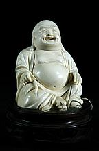 Highly Detailed Carvedold ivory Buddha Statue