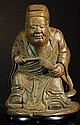 Chinese Old Carved Bamboo Statue