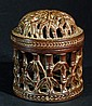 Old Highly Carved Wood Cricket Cage