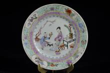 Finely Painted Chinese Famille Rose Dish