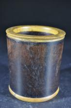 Chinese Carved Rosewood Brush Pot