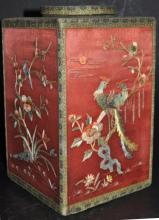 Chinese Embroidered Tea Caddy