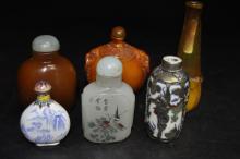 Six Chinese Snuff Bottles