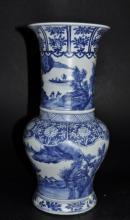 Chinese Kangxi-Style Blue & White Porcelain Vase