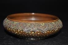 Antique Porcelain Imitating Bronze Brush Washer