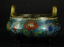 Chinese Cloisonne over Bronze Censer