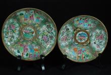 Lot of Two Chinese Rose Medallion Plates
