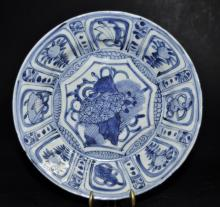 Ming Dynasty Kraak Blue and White Plate