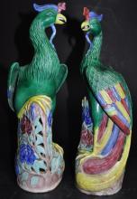 Pair of Chinese Famille Verte Porcelain Figures