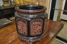 Well-Carved Lacquer Jardiniere