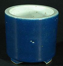 Old Chinese Blue Glazed Censer