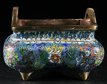 Chinese Old Cloisonne Censer