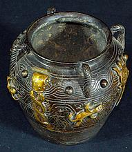 Chinese Old Bronze Jar