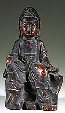 Old Chinese Copper Buddha Statue