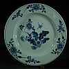 Chinese Blue And White Plate From 18th Century