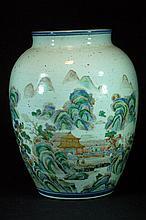 Old Chinese Famille Verte Jar