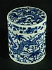Chinese Blue & White Stackable Lidded Box