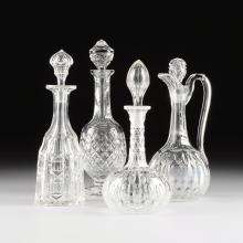 A WATERFORD CRYSTAL WINE DECANTER,
