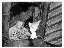 TWO JOHN HUSTON AUTOGRAPHED AND INSCRIBED 8